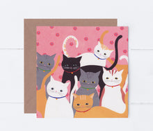 Load image into Gallery viewer, Hello Cats Greeting Card