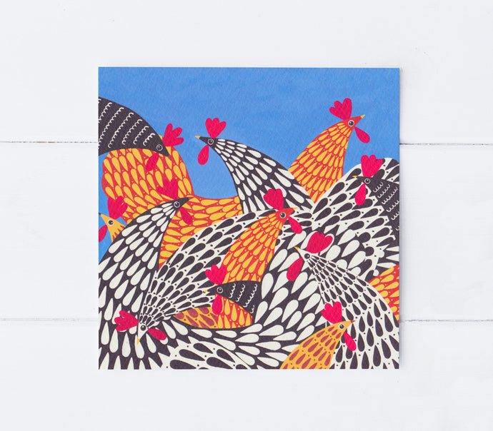 Hello Chickens Greeting Card