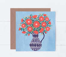 Load image into Gallery viewer, Jug of Orange Flowers Greeting Card