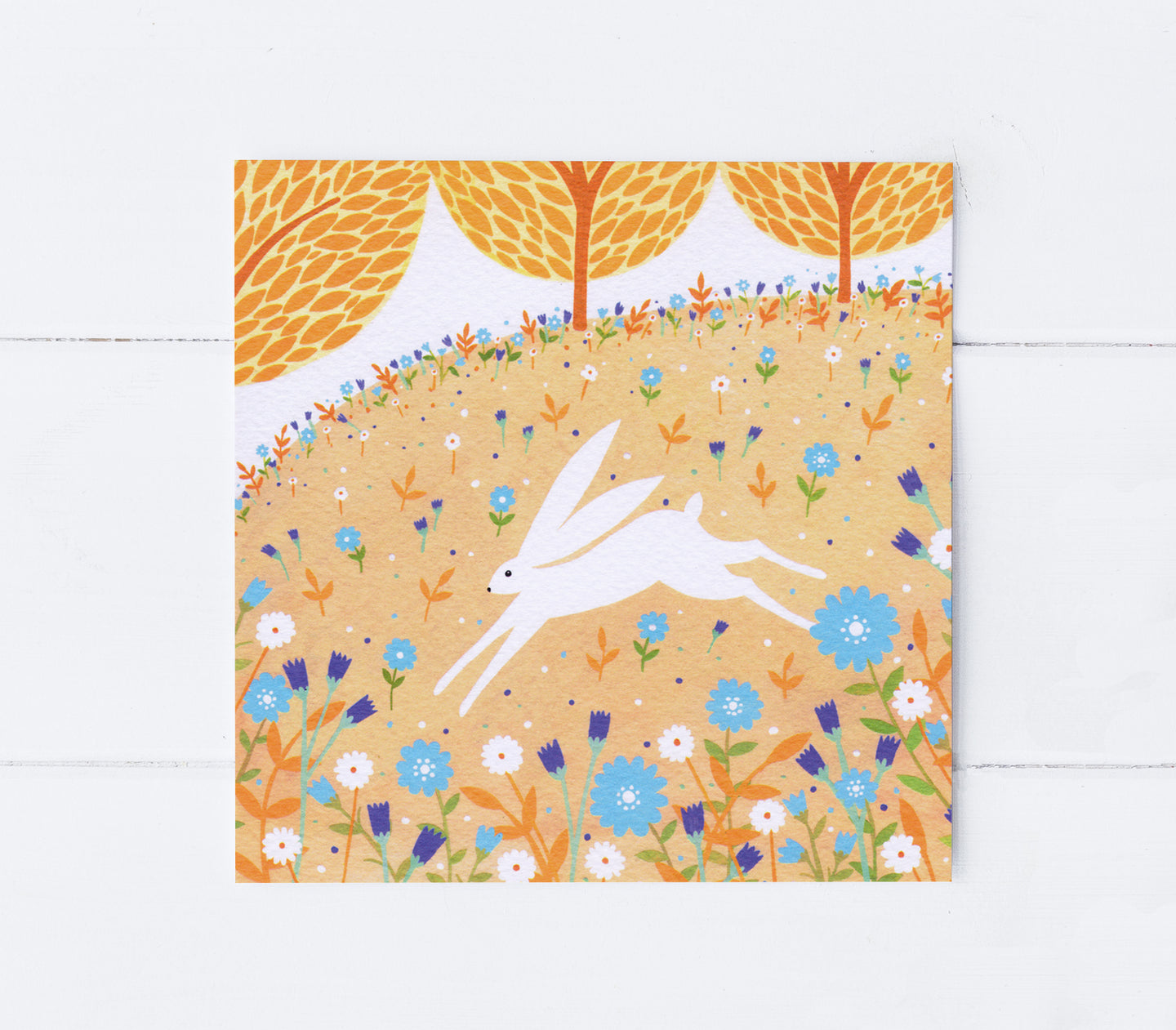 Rabbit Spring Meadow Greeting Card
