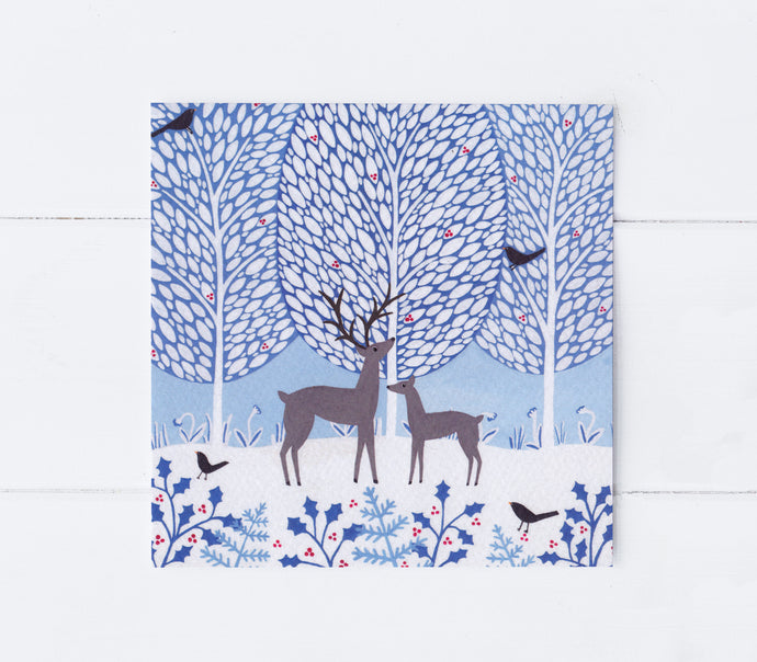 Reindeer With Baby Greeting Card