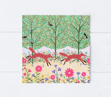 Load image into Gallery viewer, Summer Foxes Greeting Card