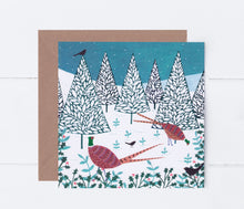 Load image into Gallery viewer, Winter Pheasants Greeting Card
