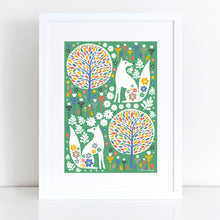 Load image into Gallery viewer, Scandi Foxes Art Print