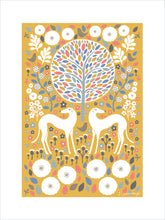 Load image into Gallery viewer, Scandi Mustard Greyhounds Art Print