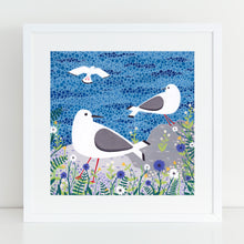 Load image into Gallery viewer, Seagulls Art Print