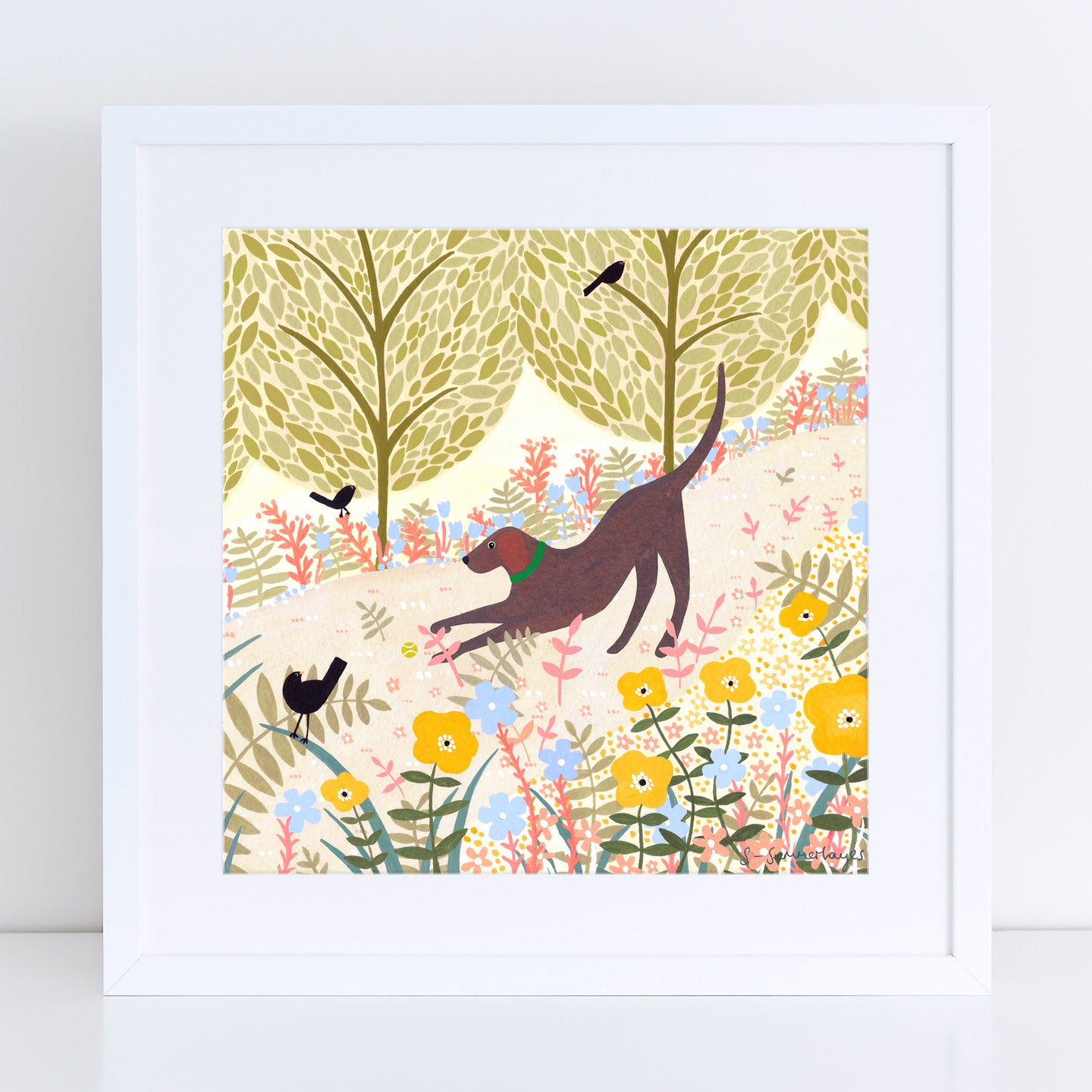 Summer Labrador Art Print