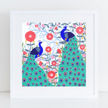 Load image into Gallery viewer, Two Peacocks Art Print