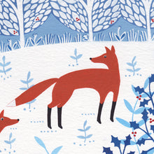 Load image into Gallery viewer, Winter Foxes Art Print