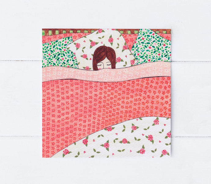 Goodnight Girl Greeting Card