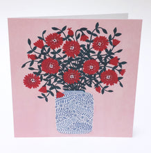 Load image into Gallery viewer, Red Flowers Greeting Card