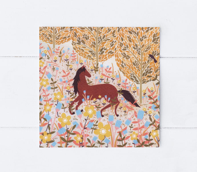 Horse Meadow Greeting Card