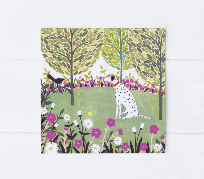 Dalmatian And Ball Greeting Card
