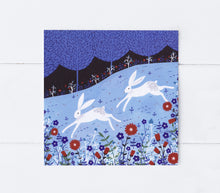 Load image into Gallery viewer, Winter Hares Greeting Card