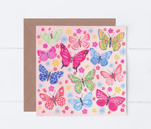 Load image into Gallery viewer, Butterflies Greeting Card
