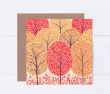 Load image into Gallery viewer, Autumn Trees Greeting Card