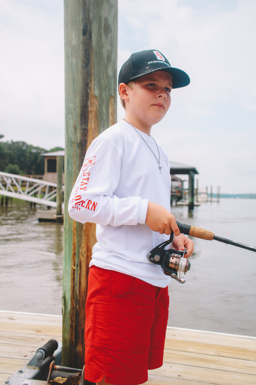 Kids' Stay Southern Performance Fishing Long Sleeve Shirt