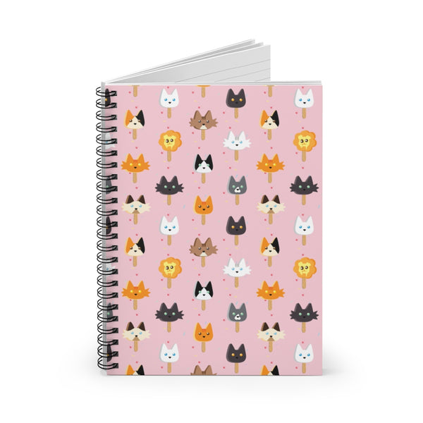 Popsicle Cats Spiral Notebook - Ruled Line
