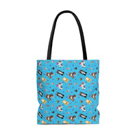 Gamer Corgi AOP Tote Bag