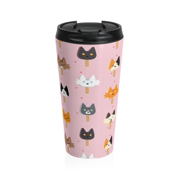 Popsicle Cats Stainless Steel Travel Mug