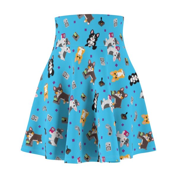 Gamer Corgi Women's Skater Skirt