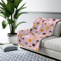 Popsicle Cats Sherpa Fleece Blanket