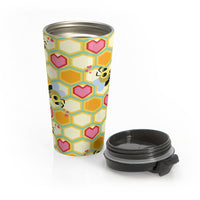 I Love Bees Stainless Steel Travel Mug