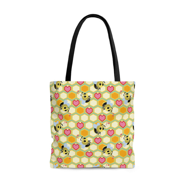 I Love Bees AOP Tote Bag
