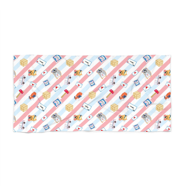 Postal Hamsters Beach Towel