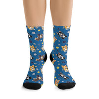 Dice Corgi Tribe DTG Socks