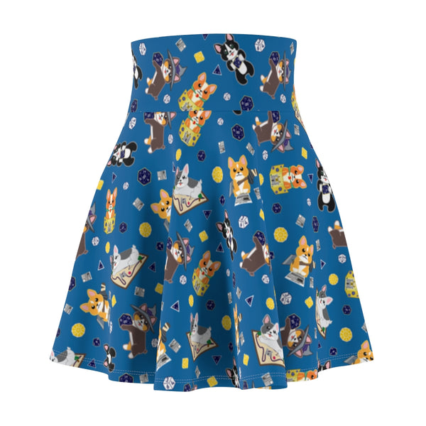 Dice Corgi Women's Skater Skirt