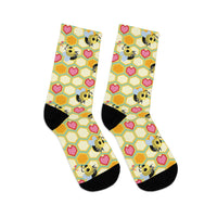 I Love Bees Tribe DTG Socks