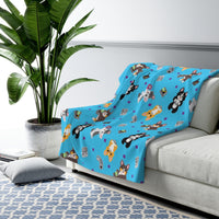 Gamer Corgi Sherpa Fleece Blanket