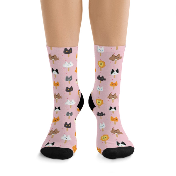 Popsicle Cats Tribe DTG Socks