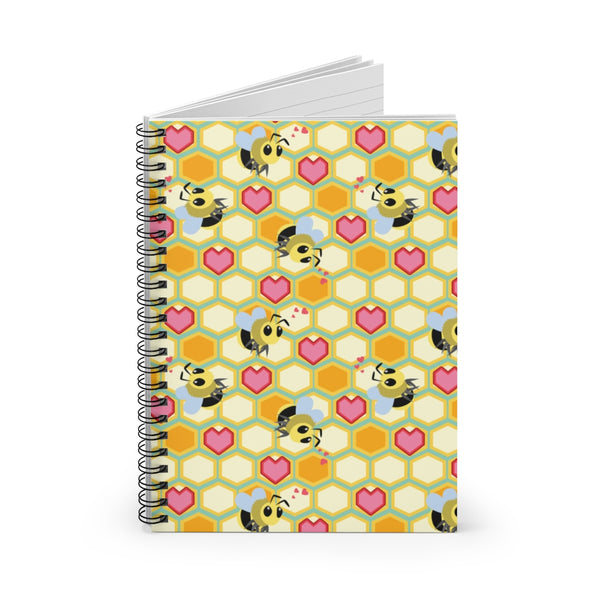 I Love Bees Spiral Notebook - Ruled Line