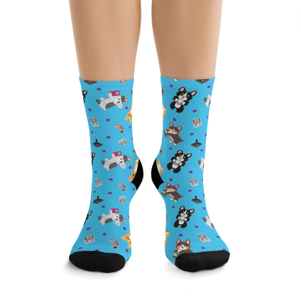 Gamer Corgi Tribe DTG Socks