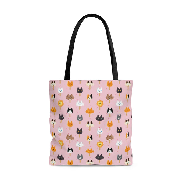 Popsicle Cats AOP Tote Bag