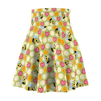 I Love Bees Women's Skater Skirt