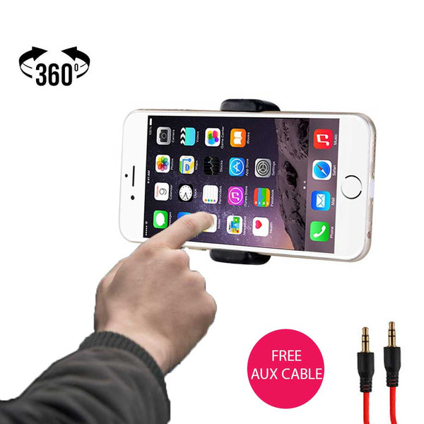 Epresent® Car Air Vent Universal Mount Holder Stand For Mobile Phones Smart Phones [4 Inch to 5.55 Inch] With Free AUX Cable