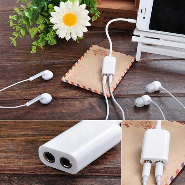3.5mm stereo audio earphone splitter cable adapter For All Smartphones MP3 MP4