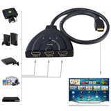Epresent 3 Port Hdmi Switch 1080P HDMI AUTO Switch Splitter Switcher HUB Box Cable for DVD HDTV PS3