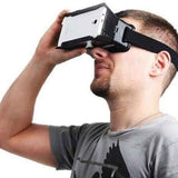 "Epresent 3D Glasses Virtual Reality Box For Videos Movie Game Glasses for iPhone Samsung Android 4-6"" Mobile Smartphone Head Mount with Headband"