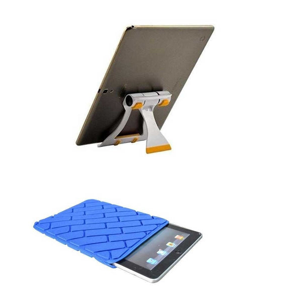 7 inch Tablet Sleeve Cover Case All 7 inch tablets and Tablet Stand Foldable Multi-Angle Portable Stand Holder for Tablets BEST COMBO OFFER