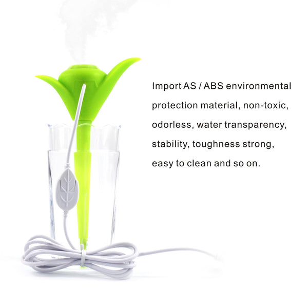 Air Humidifier Portable Mini USB Humidifier Air Mist Diffuser Purifier With Light Function Perfect for Home Office Car