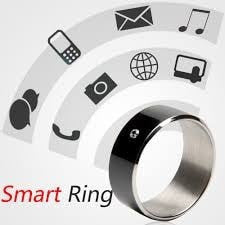 Black Color NFC Ring Smart NFC Ring Wearable Gadget NFC Smart Ring Compatible with all NFC Enabled Smartphones