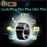 Epresent Black Color NFC Ring Smart NFC Ring Wearable Gadget NFC Smart Ring Compatible with all NFC Enabled Smartphones