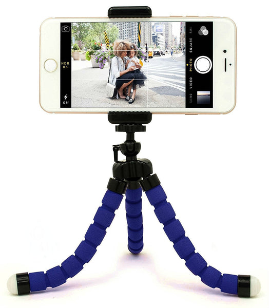 Adjustable Flexible Octopus Tripod Stand with Clip Bracket Monopod Mount Holder Selfie Stand for Smartphones, Digital Camera WITH FREE CARD READER