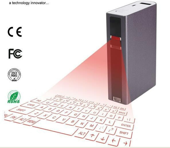 Bluetooth Virtual Mini Laser Keyboard With Power Bank for Android IOS Laptop WITH FREE NOOSY NANO SIM ADAPTER