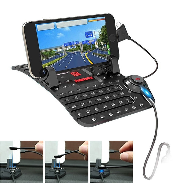 Car Holder Remax Car Mount Charging Stand Holder Dockanti-slip mat for Smartphones FREE 8 SUCTION CAR STAND