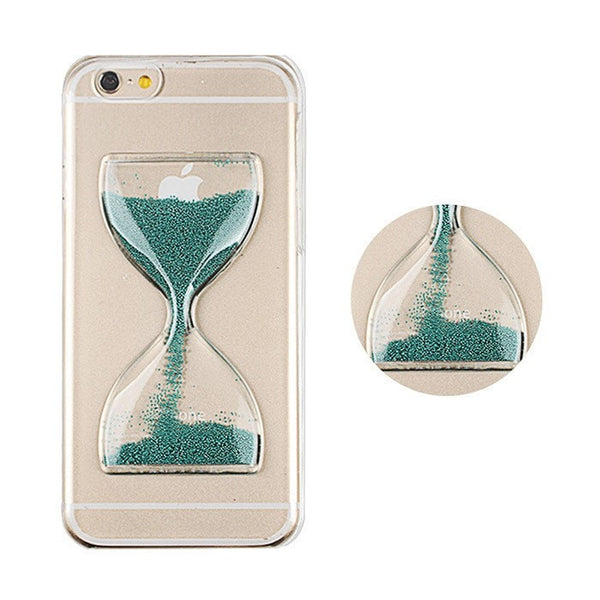 Hourglass Case for Iphone 6 new Clear Dynamic Flowing Sand glass Hourglass Case for Iphone 6